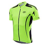 abordables -Fastcute Homme Veste Velo Cyclisme Polyester Jaune Rouge Vert clair Couleur unie Vélo Maillot Des sports Couleur unie VTT Vélo tout terrain Vélo Route Vêtement Tenue / Séchage rapide / Athleisure