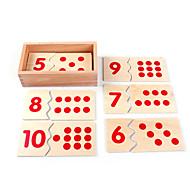 abordables -Carte d'Apprentissage Outils Pédagogiques Montessori Blocs de Construction Jouet Educatif Jouets Educatifs Mathématiques compatible En bois Legoing Economique Education Classique Garçon Fille Jouet