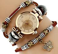 economico -Per donna Orologio braccialetto Orologio da polso Analogico Quarzo Avvolgere Donne Fantastico imitazione diamante / Un anno / Vera pelle
