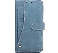 economico -telefono Custodia Per Samsung Galaxy Integrale S8 Plus S8 Bordo S7 S7 A portafoglio Porta-carte di credito Con chiusura magnetica Tinta unita Resistente pelle sintetica