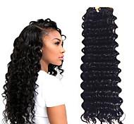 abordables -Crochet Hair Braids Ondulation profonde Box Braids Noir A Ombre Cheveux Synthétiques 14 pouce Rajouts de Tresses 3pcs / pack