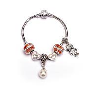 abordables -Breloque Charms Bracelet Femme Géométrique Mode Bracelet Bijoux Argent Forme Géométrique pour Noël Soirée Anniversaire Fête / Soirée Soirée / Fête Quotidien