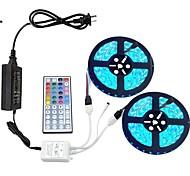 economico -10m Set luci 600 LED 5050 SMD 10mm Colori primari Telecomando Accorciabile Oscurabile 100-240 V / Collagabile / Auto-adesivo / Colore variabile / IP44