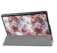 economico -telefono Custodia Per Huawei MediaPad Huawei MediaPad T3 10 (AGS-W09, AGS-L09, AGS-L03) Con supporto Fiore decorativo Resistente pelle sintetica