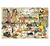 economico -500 pcs Gatto Delfino Prodotti per pesci Cartone animato Con animale Lupo Puzzle Puzzle per adulti Jumbo di legno Per adulto Per bambini Giocattoli Regalo