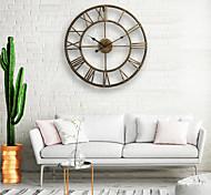 economico -orologio da parete, 20 '' rotondo classico in metallo centuriano in ferro battuto numerale romano stile arredamento per la casa orologio analogico in metallo