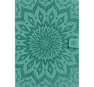 economico -telefono Custodia Per Samsung Galaxy Tab A 8.0 Tab A 9.7 Integrale Tab E 9.6 Tab A 7.0 Tab A 10.1 (2016) A portafoglio Porta-carte di credito Con supporto Fiori Mandala Resistente pelle sintetica