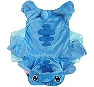 economico -Cane Costumi Vestiti del cucciolo Cartoni animati Cosplay Inverno Abbigliamento per cani Vestiti del cucciolo Abiti per cani Blu Costume per ragazza e ragazzo cane Tessuto felpato XS S M L XL