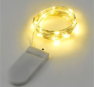 abordables -Guirlande lumineuse 2w 2m 20leds blanc chaud blanc RVB rouge jaune bleu vert alimenté par batterie