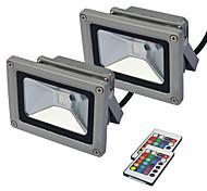 abordables -Extérieur 2 pcs LED Projecteur Éclairage Extérieur Projecteur Projecteur 10 W RVB IP65 Mur Lèche Lampe Étanche Éclairage De Jardin AC85 -265 V