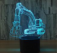 abordables -pelle 3d illusion lampe led veilleuse pour noël avec 7 couleurs clignotantes& interrupteur tactile lampe de bureau alimentée par usb pour la décoration de la maison des enfants