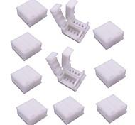 economico -Connettore a striscia rgbled a 4 pin impermeabile da 10 pezzi per luci di striscia a led 5050 rgb