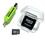 abordables -fourmis 32gb micro sd card adaptateur carte tf et lecteur de carte 3in1 set combinaison 64g 32g 8g mémoire microsd tf / sd card