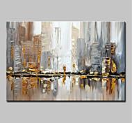 economico -dipinto a mano di grandi dimensioni coltello città pittura a olio su tela wall art immagini per la decorazione domestica senza cornice arrotolata senza cornice