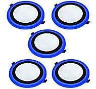 abordables -6 W 2835 Perles LED Décorative Lampes Panneau Blanc Naturel Bleu 85-265 V / 5 pièces