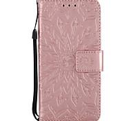 economico -telefono Custodia Per Apple Integrale A portafoglio Porta-carte di credito Con supporto Fiore decorativo Resistente pelle sintetica