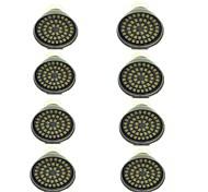 economico -8pcs 3 W Faretti LED 500 lm GU10 48 Perline LED SMD 2835 Decorativo Bianco caldo Luce fredda 12 V