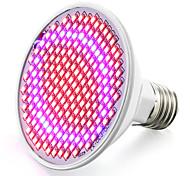 abordables -élèvent la lumière a mené la plante a augmenté la lumière a mené l'ampoule croissante 85-265v 6w 6.2w 800-850 lm e26 / e27 200 perles menées smd 2835 rouge bleu rohs fcc