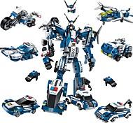 abordables -ENLIGHTEN Robot Blocs de Construction Blocs Militaires Jouet Educatif Jeu de construction Jouets 577 pcs Robot Policier / Policière Ville Soldat compatible Legoing Nouveau design A Faire Soi-Même