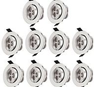 abordables -10 pièces 3 W 300 lm 3 Perles LED Installation Facile Encastré Plafonniers Blanc Chaud Blanc Froid 85-265 V Commercial Maison / Bureau Salon / Salle à Manger