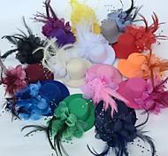 economico -Tulle / Pelle fascinators / Fiori / cappelli con Fantasia floreale 1 pc Matrimonio / Occasioni speciali / Festa / Serata Copricapo