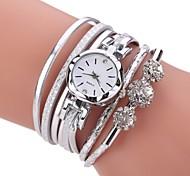 economico -Per donna Orologio braccialetto Simulato Triangolo Orologio Analogico Quarzo Donne imitazione diamante / Di similpelle trapuntata / Un anno