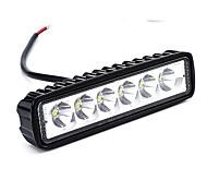 abordables -Ampoules de voiture / moto / camion 18w haute performance led 1800lm 6 lampe de travail 6 * 1.9 * 1inch lampe de travail projecteur barre de lumière