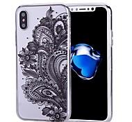 economico -telefono Custodia Per Apple Per retro iPhone X iPhone 8 Plus iPhone 8 iPhone 7 Plus iPhone 7 iPhone 6s Plus iPhone 6s iPhone 6 Plus iPhone 6 iPhone SE / 5s Fantasia / disegno Fiore decorativo Morbido