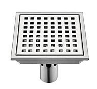 economico -piletta da incasso a pavimento, accessorio da bagno in metallo finitura acciaio inox stile moderno
