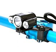 economico -LED Luci bici Luce frontale per bici LED Ciclismo da montagna Bicicletta Ciclismo Impermeabile Super luminoso Professionale Luce LED Batteria al litio Bianco Campeggio / Escursionismo / Speleologia