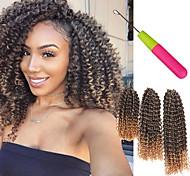 abordables -Crochet Hair Braids Marley Bob Box Braids Cheveux Synthétiques Court Rajouts de Tresses 3pcs / pack