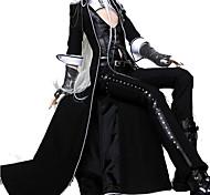 abordables -Vampire Docteur de la peste Gothique Lolita Punk Tenue Homme Femme faux cuir Cuir Japonais Costumes de Cosplay Noir Couleur Pleine Poète Manches Longues Longueur Cheville / Gilet / Pantalon / Gants
