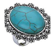 economico -Per donna Anello a metà dito Turchese Verde Turchese Lega Ovale Personalizzato Classico Casual Palco Gioielli