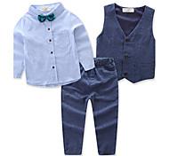 abordables -Bébé Ensemble de Vêtements Garçon Soirée Quotidien Couleur Pleine Actif Manches Longues Normal Normal Bleu