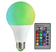 abordables -1pc 10 W 800 lm E26 / E27 Ampoules LED Intelligentes A80 6 Perles LED SMD 5050 Intensité Réglable / Commandée à Distance / Décorative RGBW