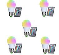 abordables -5pcs 3W 250lm E26 / E27 Ampoules LED Intelligentes 10 Perles LED SMD 5050 Capteur infrarouge / Intensité Réglable / Commandée à Distance