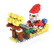 abordables -Blocs de Construction 180 pcs Costume de père noël père Noël Vacances Costumes de père noël compatible Legoing Non Toxique Noël Jouet Cadeau