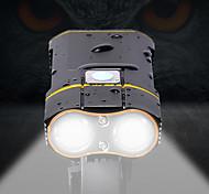 economico -LED Luci bici Luce frontale per bici LED Ciclismo da montagna Bicicletta Ciclismo Impermeabile Facile da portare Per Modalità di ricarica multiple Solare Ricaricabile Li-Batteria integrata USB Bianco