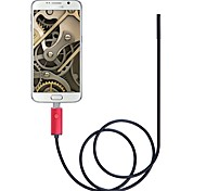 abordables -5.5mm lentille 2 en 1 usb endoscope caméra ip67 étanche inspection endoscope 2 m longueur rouge pour windows caméra snake android