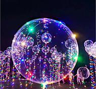 abordables -Eclairage LED Ballons Ballon LED Phosphorescent Gonflable 3M 18Inch Enfant Adulte pour des cadeaux d'anniversaire et des cadeaux 1-15 pcs
