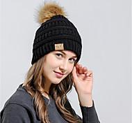 abordables -Ski Bonnet Skull Cap Bonnet de Ski Homme / Femme Chaud / Lunettes de Ski / Ski Snowboard Acrylique Ski / Activités Extérieures / Fonctionnement Hiver
