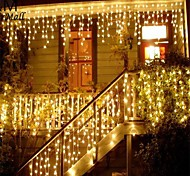 abordables -guirlande de noël led rideau de glaçons guirlande lumineuse 220v 1.5m 48leds chute intérieure led parti scène de jardin lumière décorative extérieure