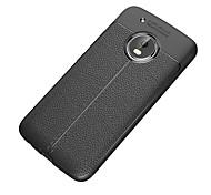 abordables -téléphone Coque Pour Motorola Coque Arriere Jeu de Moto Z2 Moto G5 plus Moto G5 Moto E4 Plus Moto C plus Moto C Antichoc Dépoli Couleur unie Flexible TPU