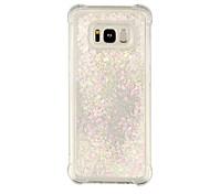 economico -telefono Custodia Per Samsung Galaxy Per retro S8 Plus S8 Bordo S7 S7 Resistente agli urti Liquido a cascata Transparente Transparente Glitterato Morbido TPU
