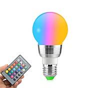 economico -1 pc 5 W Lampadine globo LED 400 lm E14 E26 / E27 5 Perline LED SMD Oscurabile Controllo a distanza Decorativo RGBW 85-265 V