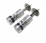 abordables -Lampe Frontale Ampoules électriques LED Haute Performance 100 W 20 Pour Universel Tous les modèles Toutes les Années 2 pièces