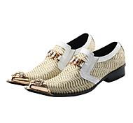 abordables -Homme Oxfords Chaussures formelles Chaussures de nouveauté Rétro Vintage Mariage Soirée & Evénement Matière synthétique Fait à la main Blanche Automne Printemps