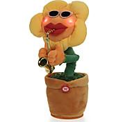 abordables -Animal en peluche Peluches Poupées en peluche Animaux en Peluche Fleur dansante En chantant Danse Soulagement de stress et l'anxiété Adorable Electrique Éponge ABS Saxophone Flower Jeu imaginatif