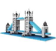 abordables -Blocs de Construction Jouet Educatif Blocs LOZ Jeu de construction Jouets 570 pcs Architecture Bâtiment Célèbre le pont de Londres compatible Legoing Non Toxique A Faire Soi-Même Classique Garçon