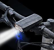 abordables -LED Eclairage de Velo Eclairage LED Puce LED Eclairage de Vélo Avant LED Vélo Cyclisme Imperméable Portable Avertissement Largage rapide Lithium-ion 2400 lm Rechargeable Batterie Li intégrée USB Blanc
